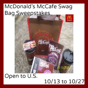 mcdonald's mccafe swag bag image