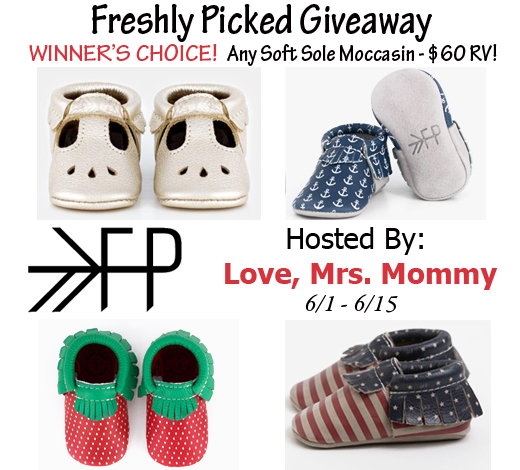 Winner's Choice of Freshly Picked Moccasins #Giveaway{6/16}