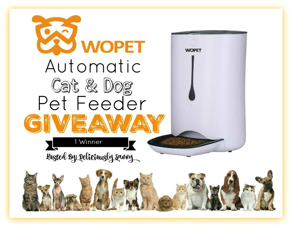 WOpet Automatic Cat & Dog Pet Feeder Giveaway!{ Ends 8/11} @WOpetshop