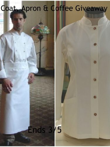 Chef Coat, Apron & Coffee #Giveaway{ends 3/5}