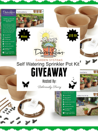 Daisy Rain Garden Systems Self Watering Sprinkler Pot Kit #Giveaway{ends 5/14}