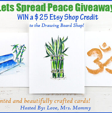 Lets Spread Peace $25 Etsy GC to the Drawing Board Shop Giveaway!{ends 9/8}