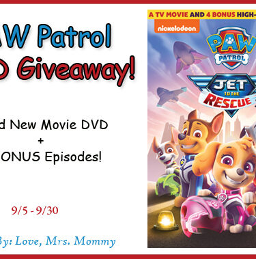 PAW Patrol: Jet to the Rescue DVD Giveaway{ends 9/30}