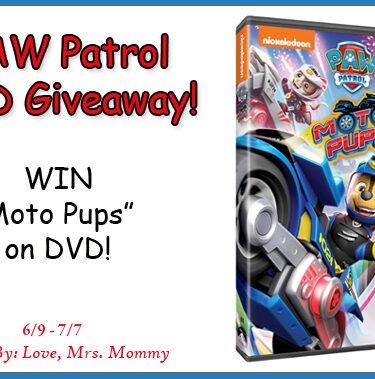PAW Patrol Moto Pups DVD Giveaway!{ends 7/7}
