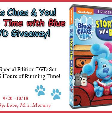 5th Anniversary Blue's Clues Story Time with Blue DVD Giveaway{ends 10/18}